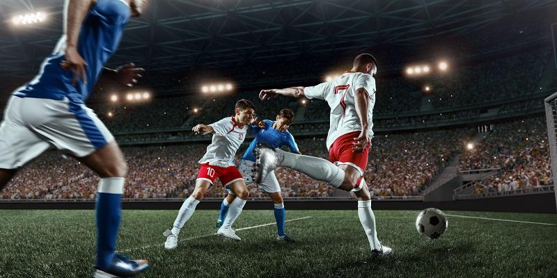 Football players on field