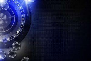 roulette, casino. blue