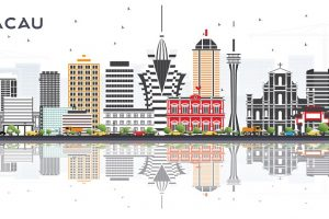 macau, skyline macau, drawing