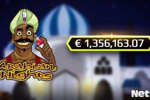 Jackpot-Gewinn Arabian Nights