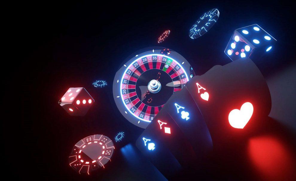 casino, lights